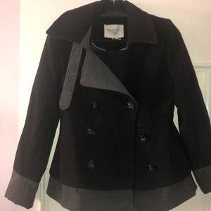 american rag woman small black coat